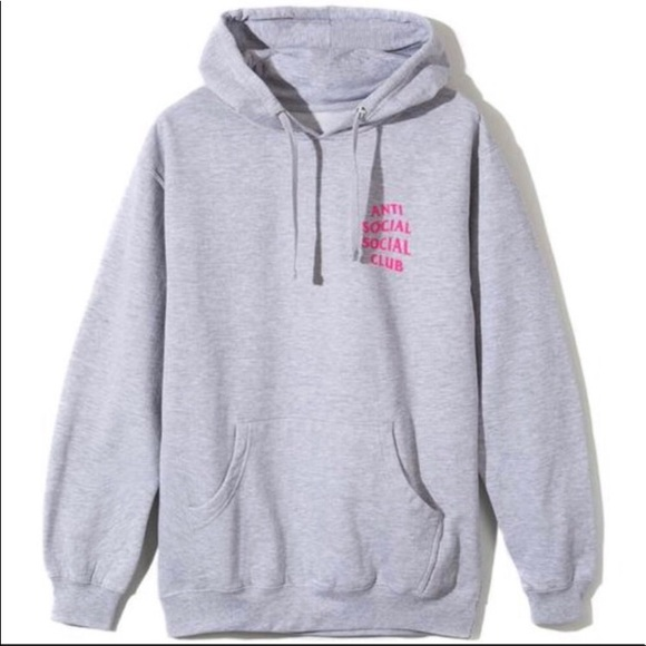 Anti Social Social Club Seeing Double Pink Hoodie Size large L ASSC In Hand